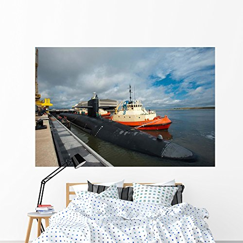 - Ballistic Missile Submarine Uss Wall Mural by Wallmonkeys Peel and Stick Graphic (72 in W x 48 in H) WM42942