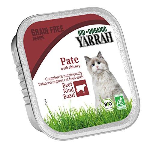 Yarrah Pate Rind Zichorie 100g Bio Katzenfutter, 16er Pack (16 x 100g)