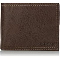 Levi's Men's Extra Capacity Leather Slimfold Wallet (Brown)
