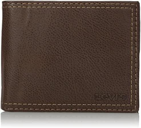 Levi's Men's Extra Capacity Leather Slimfold Wallet