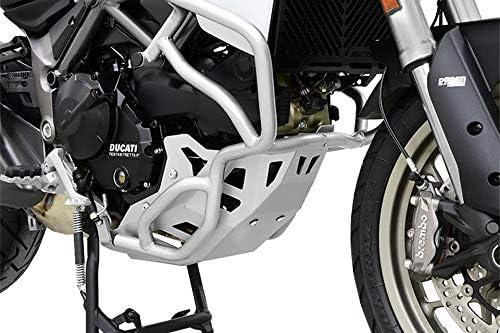 Ducati Multistrada 950 BJ 2017 Motorschutz Unterfahrschutz Bugspoiler silber IBEX