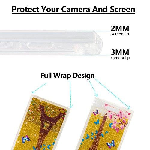 Sony Antichoc 3D Rayures XZ1 TPU Mouvants Silicone Sables Quicksands Etui Coque Anti Liquide Transparente Coffeetreehouse Xperia Paillette dqacdSR