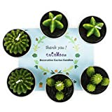 COCOMOON Cactus Tealight Candles, Artificial Succulents Decorative Tea Light Candles 6 Pcs,Perfect for Birthday Wedding Party Home Decor