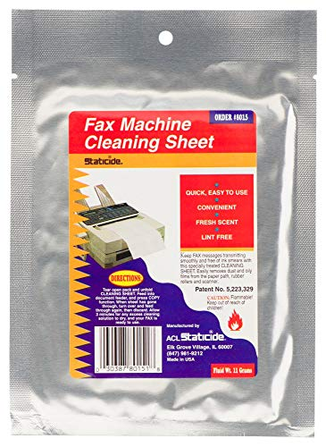 8015 4PK - Cleaner, Fax Machine, Wipes, 10 Sheets, 4 Packs (Pack of 2) (8015 4PK)