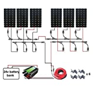 ECO-WORTHY 160W 300W 500W 600W 800W 1000W 1300W Complete Solar Panel Kit: 160W Mono Solar Panels+Charge Controller+Solar Cable+MC4 Branch Connectors Pair+Z Bracke