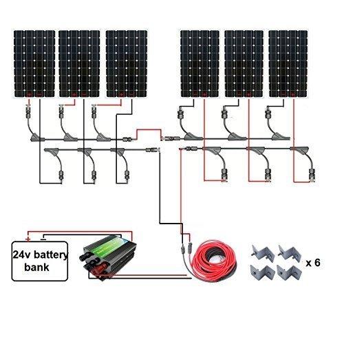 ECO-WORTHY-160W-300W-500W-600W-800W-1000W-1300W-Complete-Solar-Panel-Kit-160W-Mono-Solar-PanelsCharge-ControllerSolar-CableMC4-Branch-Connectors-PairZ-Bracke