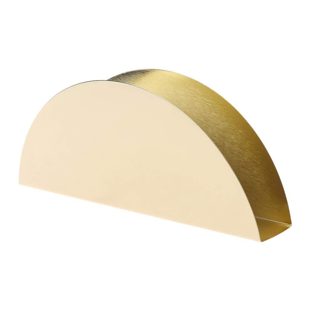 Yajiun Porta tovaglioli di Carta da Tavolo Colore: Oro No.1 in Acciaio Inox