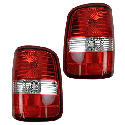 Taillights Taillamps Brake Lights Left & Right Pair Set for 04-08 F150 Styleside: Automotive