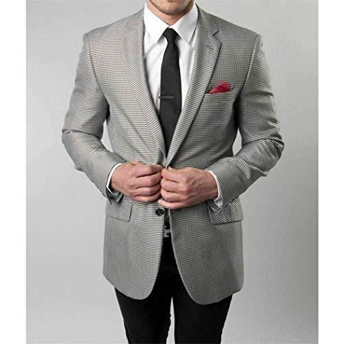 - Mens Silver & Black Sawtooth Check Slim Fit Jacket Sport Blazer New(40L Regular)
