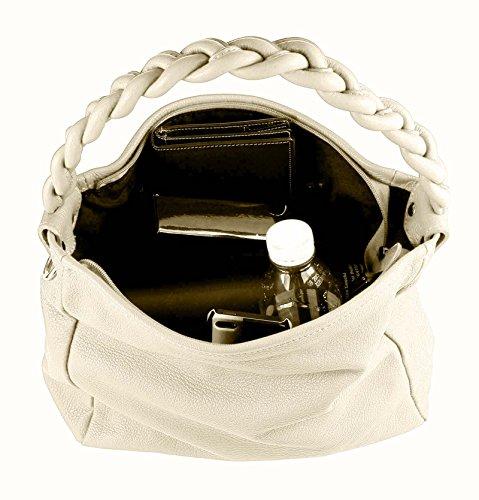 De Bolsa Bolso Vera Obc Hombro In Shopper Tipo Piel Italy Beige Saco 40x28x11 Del Cm Bandolera Natural Con Asas Xl Made q0vfqAw6