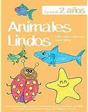 Libro para colorear para niños Animales Lindos A partir de 2 años: Libro de dibujar para niños y niñas con 50 motivos de animales, libro para ... en blanco: Libro de dibujo para niño y niña