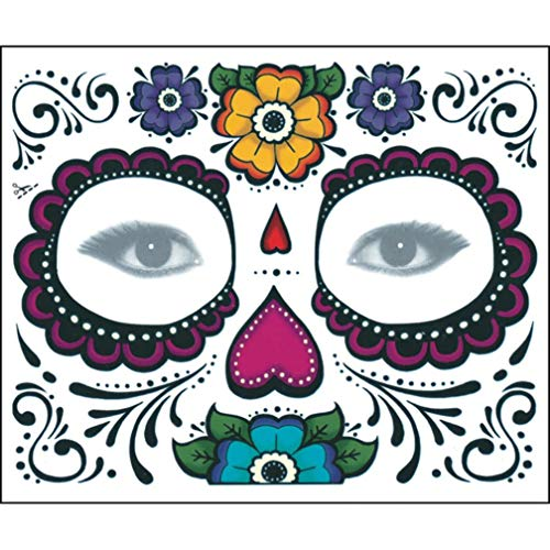 Sacow Floral Day The Dead Sugar Skull Temporary