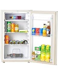 Smad DC AC Solar Powered Mini Refrigerator,3.2 Cu.ft, White