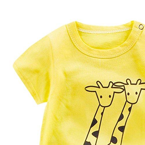Pagliaccetto Combinazione cartoni animati mesi bambini Vestiti ❤️ per Bebe Tute di Pagliaccetti Giallo svegli 0 del tute Amlaiworld e bambino 24 Ragazza qgESX