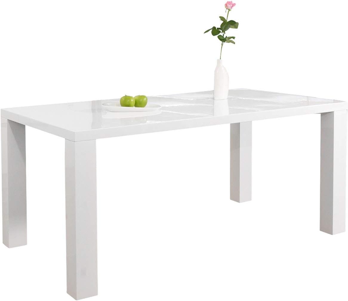 Ess-Tisch weiß Hochglanz aus MDF 44x44cm recht-eckig  Luca  Moderner  Küchen-Tisch aus MDF-Holz weiss  Vierfußtisch Hochglanz weiß lackiert