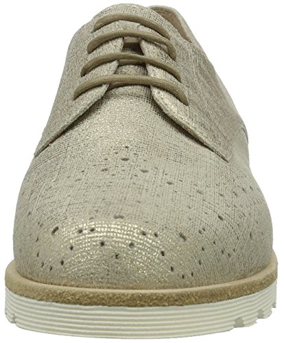 Sioux Veloria, Zapatos de Cordones Brogue para Mujer Beige (Teint)