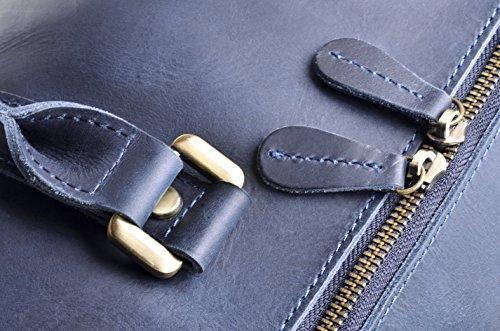 c03e9d300d6a Hølssen Weekender Duffle Bag (Genuine Leather) Overnight Travel Tote ...