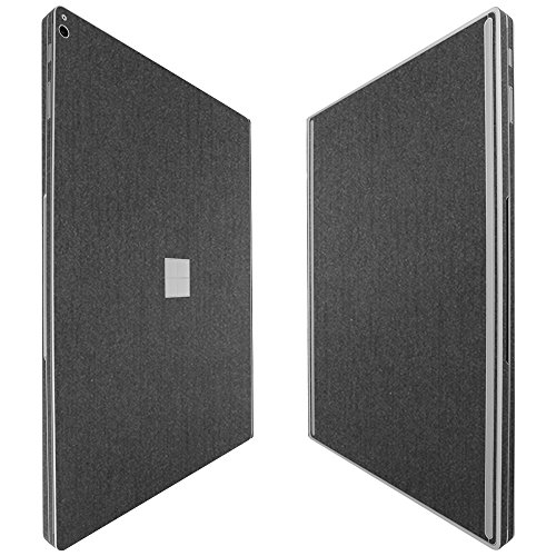 "Skinomi Microsoft Surface Book 2 15"" Screen Protector + Brushed Steel Full Body, TechSkin Brushed Steel Skin for Microsoft Surface Book 2 15"" with Anti-Bubble Clear Film Screen"