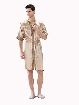 Bata Hombre Vestido De Manga Corta Ampliación Código Pijamas De Manga Larga,002,XXL