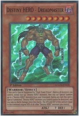 Yu Gi Oh Destiny Hero Dreadmaster Lcgx En125 Legendary Collection 2 1st Edition Super Rare Single Cards Amazon Canada