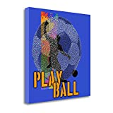 ''Play Ball - Soccer'' By Jim Baldwin, Fine Art Giclee Print on Gallery Wrap Canvas, Ready to Hang