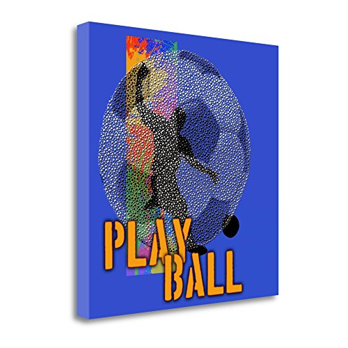 ''Play Ball - Soccer'' By Jim Baldwin, Fine Art Giclee Print on Gallery Wrap Canvas, Ready to Hang by Tangletown Fine Art