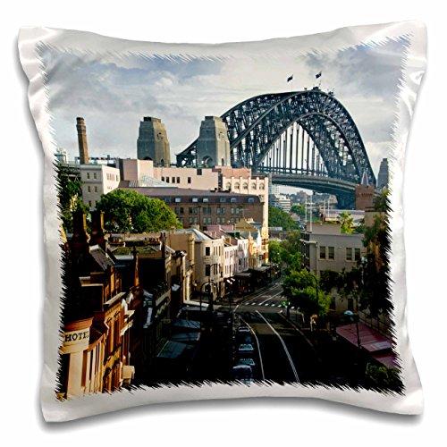 Danita Delimont - Sydney - Australia, New South Wales, Sydney, George Street-AU01 WBI0071 - Walter Bibikow - 16x16 inch Pillow Case - Street Sydney Australia George