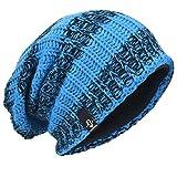 0be950ba91a VECRY Men s Cool Cotton Beanie Slouch Skull Cap Long Baggy Hip-Hop Winter  Summer Hat (Stripe-Blue)