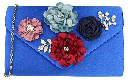 Girly Handbags - Cartera de mano de Material Sintético para mujer azul real