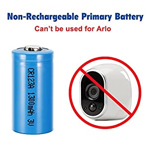 Bingogous CR123A Lithium Battery 3V 1300mAh with PTC Protection Leak Resistant Non-Rechargeable CR123A Batteries for Flashlight Clock Light Meter Toys Torch, Not Fit for Arlo (12-Pack)