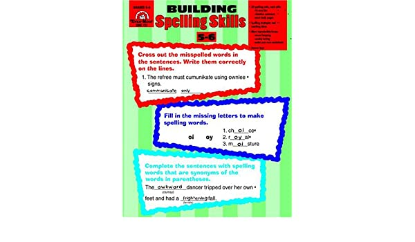 Workbook contraction worksheets for grade 3 : Building Spelling Skills : Grades 5-6: Moore: 0023472007278 ...