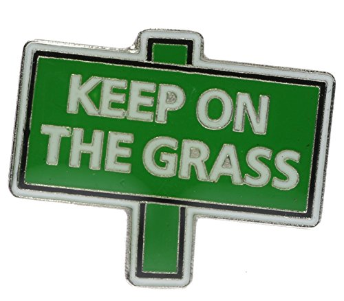 Keep ON the Grass Biker Hat or Lapel Pin NovKeepgrass1