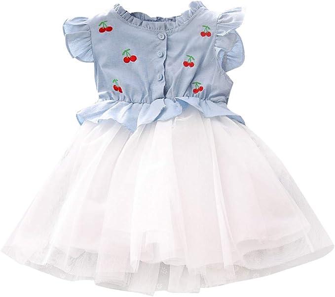 OPAKY Vestidos de Niña Pequeña para Bebés y Niños Pequeños Vestido ...