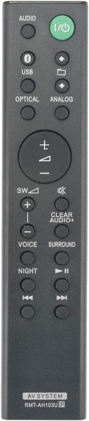 ALLIMITY RMT-AH103U Control Remoto Reemplazar por Sony Sound Bar HT-CT80 SA-CT80 HTCT80 SACT80 RMTAH103U SS-WCT80 SSWCT80