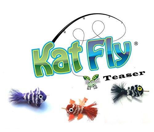 KatFly Cat Wand Refill Teaser Set - Mini Clownfish (Set1) ()