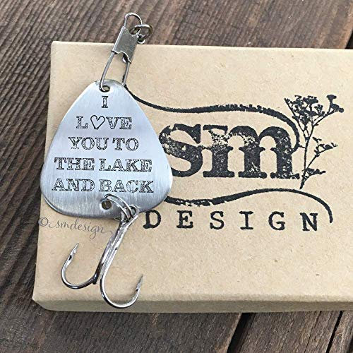 I Love You To The Lake And Back Fishing Lure- Anniversary Gift For Him Men's Fishing Lure Gift Wedding Gift Idea I Love You Lure