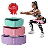 Hurdilen Resistance Bands Loop Exercise Bands Booty Bands - Workout Bands Hip Bands Wide Resistance Bands Hip Resistance Band for Legs and Butt - Activate Glutes and Thighs