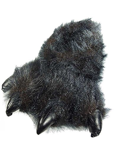 Black for Tiger Paw Women Slippers Men Animal and aT0Htqn