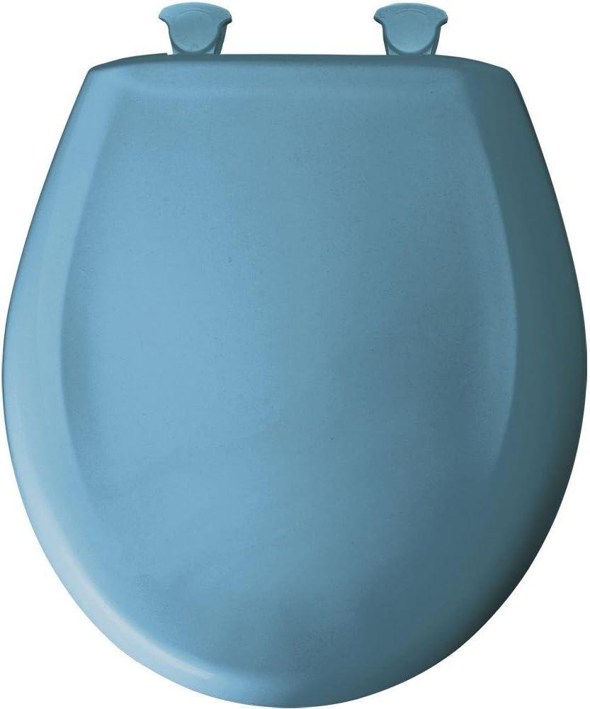 Bemis 200SLOWT 144 Lift-Off Plastic Round Slow-Close Toilet Seat New Orleans Blue