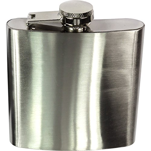 HTS 264B0 6 Oz. Stainless Steel Hip Flask