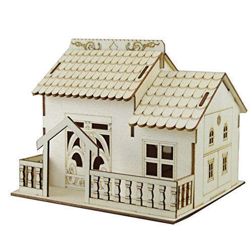Nizzco Creative Wooden House Money Box Villa With Led Light Piggy Bank For Boys Girls And Adults Birthday Present