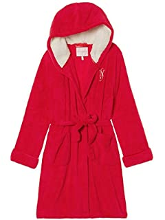 Victorias Secret Monogrammed Short Hooded Plush Robe