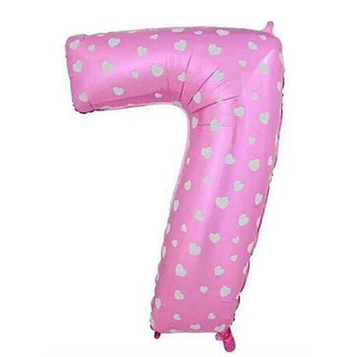 Globos digitales de número 0 a 9 de 40 pulgadas, grandes globos gigantes de papel de aluminio, globos con número de Mylar para cumpleaños, fiestas, ...