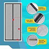 Mosquito Screen Curtain for Main Doors, Balcony Doors or Kitchen Doors; (Size 210*90 cms) Good Quality Mesh with Magnets which helps close Screen Automatically …
