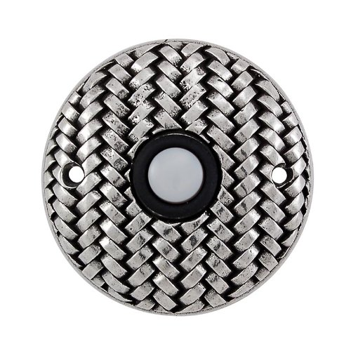 (Vicenza Designs D4010 Cestino Round Style Doorbell, Vintage Pewter)