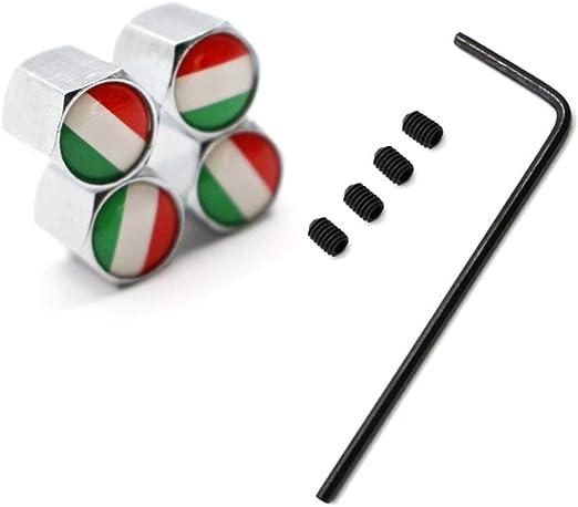 5 Teile Satz Reifen Ventil Staubkappen Diebstahl Italien Nationalflagge Zink Legierung Für Autos Vw Audi Toyota Honda Bmw Benz Auto