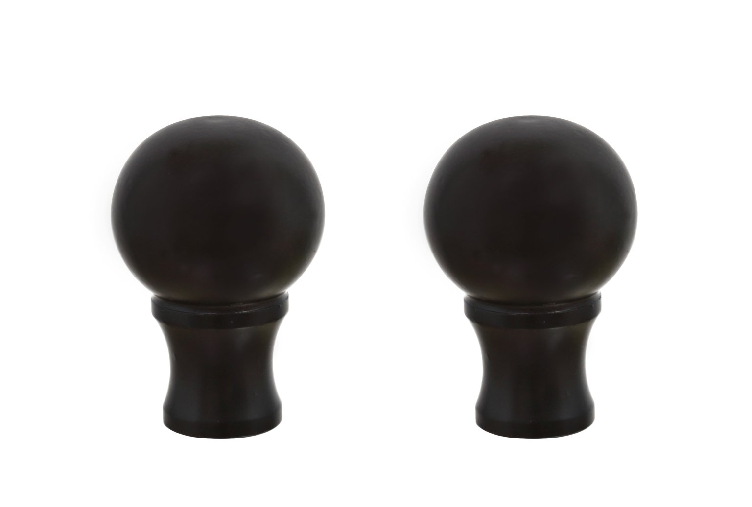 Aspen Creative 24018-32 Steel Lamp Finial Finish, 1 1/2'' Tall (2), 2 Pack, Oil Rubbed Bronze