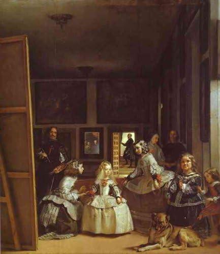 ArtsDotCom. Pintura al óleo Pintada a Mano – Diego Velazquez – Las Meninas (Las Maids Honor) La Familia Real: Amazon.es: Juguetes y juegos