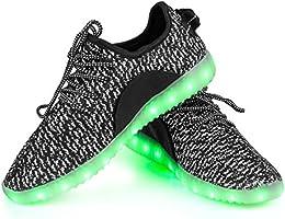 Shinmax LED Schuhe, 7 Farbe USB Aufladen LED Leuchtend Sport Schuhe Sportschuhe LED Sneaker Turnschuhe Für Unisex-Erwachsene Herren Damen mit CE-Zertifikat