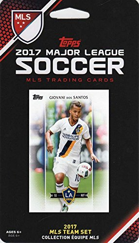 Los Angeles Galaxy 2017 Topps MLS Soccer Factory Sealed 9 Card Team Set with Giovani dos Santos